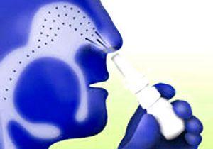 схема действия спрея при лечении ринита