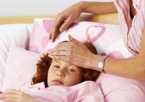 девочка с орви в постели