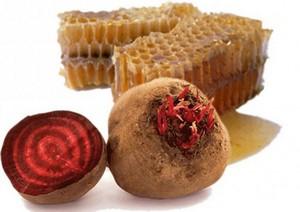 свеклу и мёд применяют для лечения ангины