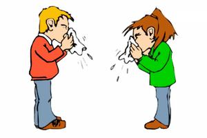 передача вируса при чихании