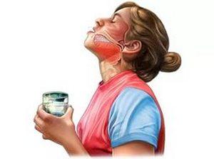 схема процесса полоскания горла