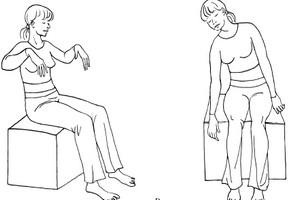 дыхательное упражнение на стуле