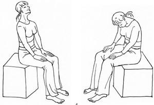 упражнение для дыхания сидя