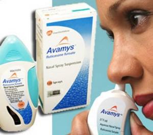 распыление в нос авамиса