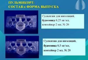 состав и форма выпуска пульмикорта