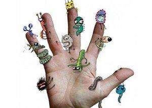 грязные руки причина распространения бактерий