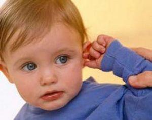 ребёнок указывает на больное хо
