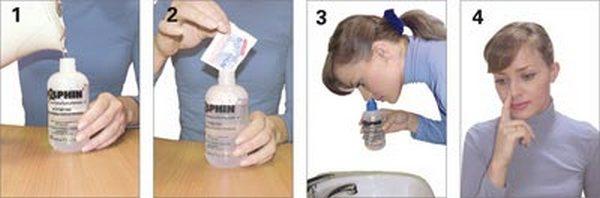 порядок действий при промывании носа