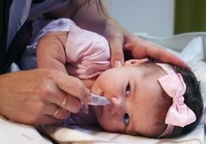 промывание носа ребёнку 1 года