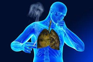 развитие одышки у курильщика