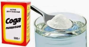 полоскание содой