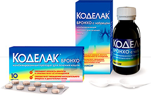 таблетки и эликсир Коделак Бронхо