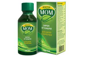 От какого кашля помогает сироп Доктор МОМ и как его применять правильно взрослым и детям?