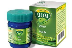 Обзор инструкции и отзывов о применении мази Доктор МОМ для лечения насморка у детей