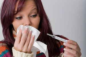 простуда у девушки